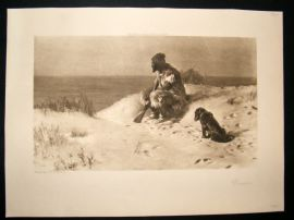 1901 Antique Print (Robinson) Crusoe by Dollman